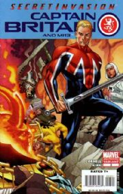 Captain Britain And MI13 #3 2nd Second Print Variant (2008) Secret Invasion Marvel comic book